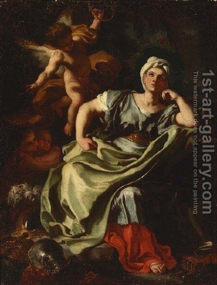 The European Sibyl by (after) Francesco Solimena - Reproduction Oil Painting