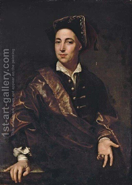 Portrait of a gentleman by (after) Francesco Trevisani - Reproduction Oil Painting