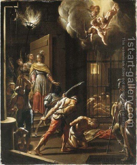 The Beheading of Saint John the Baptist by (after) Francesco Trevisani - Reproduction Oil Painting