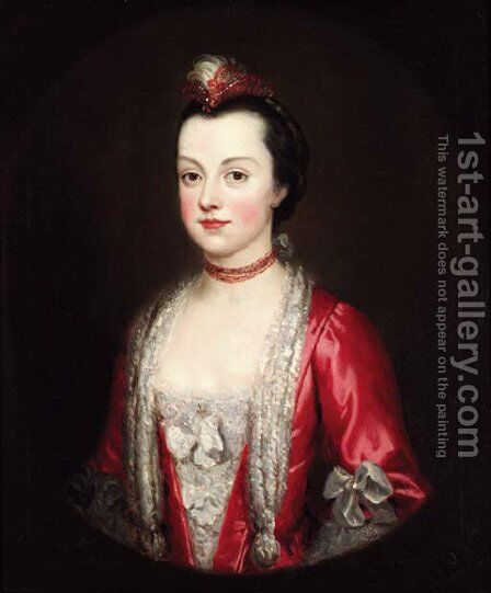 Portrait of a lady by (after) Francis Cotes - Reproduction Oil Painting