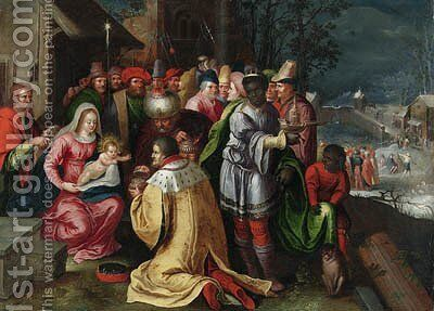 The Adoration of the Magi by (after) Frans II Francken - Reproduction Oil Painting