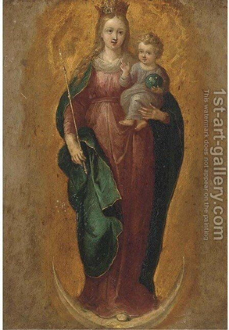 The Immaculate Conception by (after) Frans II Francken - Reproduction Oil Painting