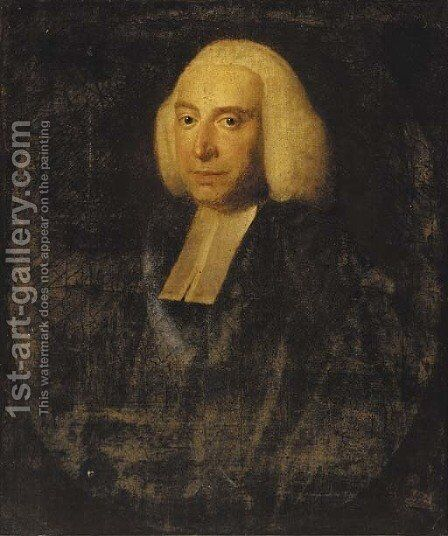 Portrait of Dr. Dodd by (after)  Frans Van Der Mijn - Reproduction Oil Painting