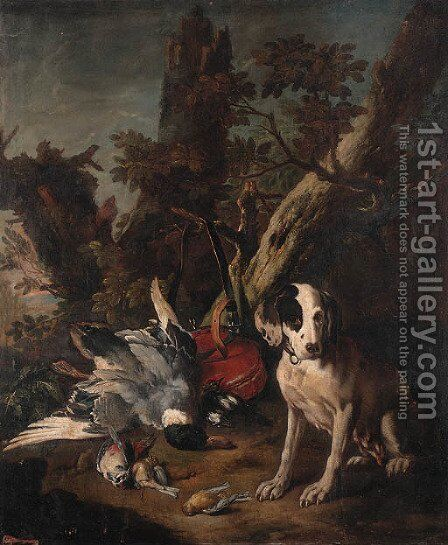 A pointer by (after) Frans Werner Von Tamm - Reproduction Oil Painting