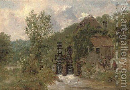 The old watermill by (after) Frederick Richard Lee - Reproduction Oil Painting