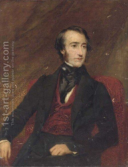 Portrait of Sir Edward Celebrooke by (after) Frederick Richard Say - Reproduction Oil Painting