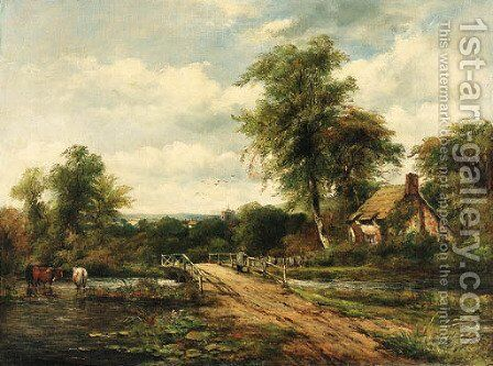The crossing bridge by (after) Frederick William Watts - Reproduction Oil Painting