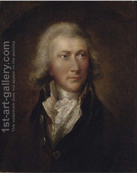 Portrait of a gentleman 2 by (after) Dupont Gainsborough - Reproduction Oil Painting