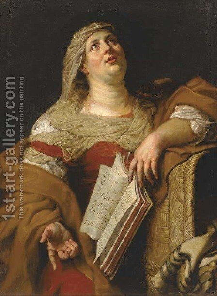 A sibyl by (after) Kasper Or Gaspar Van Den Hoecke - Reproduction Oil Painting