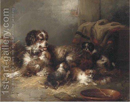 The new family by (after) George Armfield - Reproduction Oil Painting