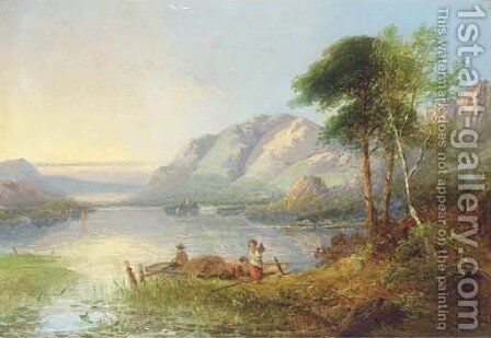 Loch Katrine by (after) George Cole - Reproduction Oil Painting