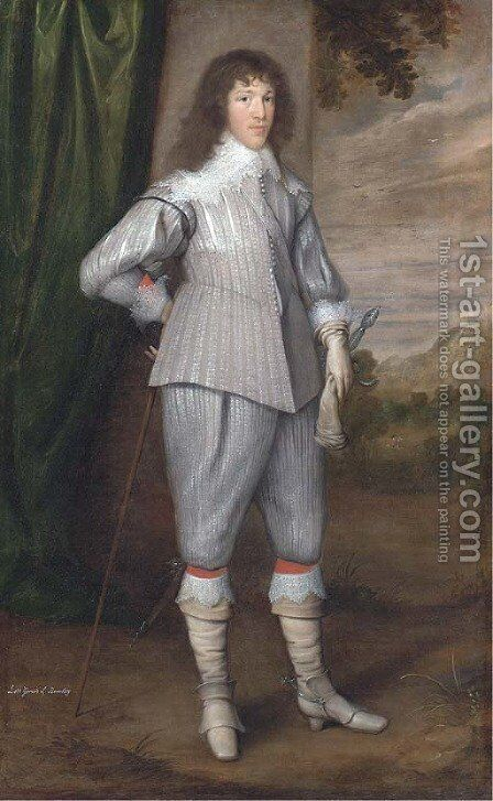 Portrait of Dutton, 3rd Baron Gerard, of Bromley, Staffordshire by (after) George Geldorp - Reproduction Oil Painting