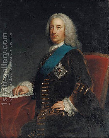 Portrait of William Cavendish, 3rd Duke of Devonshire by (after) George Knapton - Reproduction Oil Painting