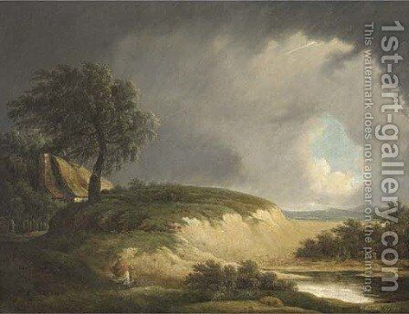 The approaching storm by (after) George Morland - Reproduction Oil Painting