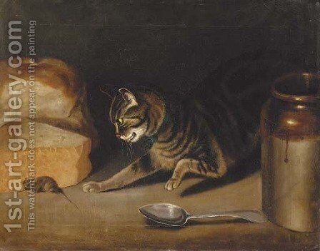 A game of cat and mouse by (after) George, Of Chichester Smith - Reproduction Oil Painting