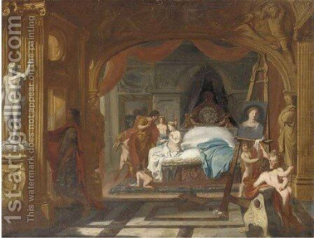 Apelles painting Campaspe by (after) Gerard De Lairesse - Reproduction Oil Painting