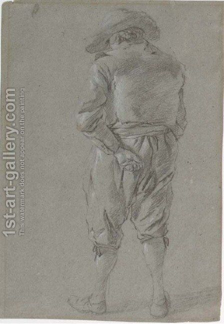 Study of a man wearing a hat by (after) Gerrit Adriaensz Berckheyde - Reproduction Oil Painting