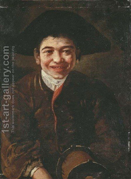 A laughing boy by (after) Giacomo Ceruti (Il Pitocchetto) - Reproduction Oil Painting