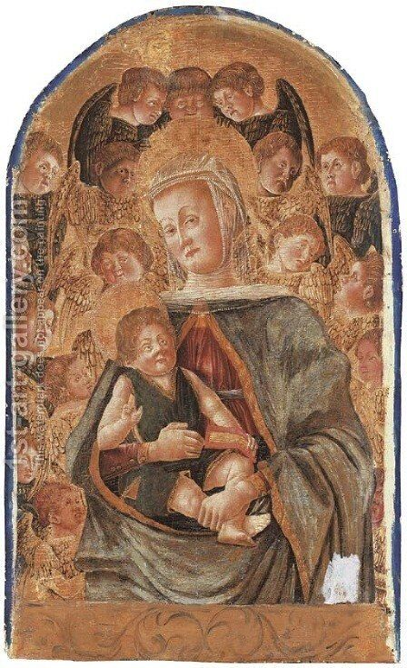 The Madonna and Child with Angels by (after) Giorgio Schiavone - Reproduction Oil Painting