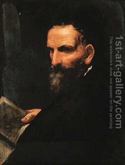 Portrait of a gentleman by (after) Giovanni Antonio Burrini - Reproduction Oil Painting