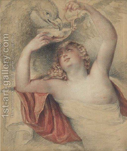 Jupiter and Hebe by (after) Giovanni Battista Cipriani - Reproduction Oil Painting
