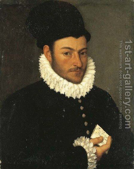 Portrait of a gentleman by (after) Giovanni Battista Moroni - Reproduction Oil Painting