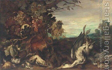 A wooded clearing by (after) Giovanni Crivelli, Called Il Crivellino - Reproduction Oil Painting