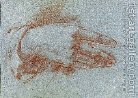 Study of a Hand by (after) Giovanni Domenico Tiepolo - Reproduction Oil Painting