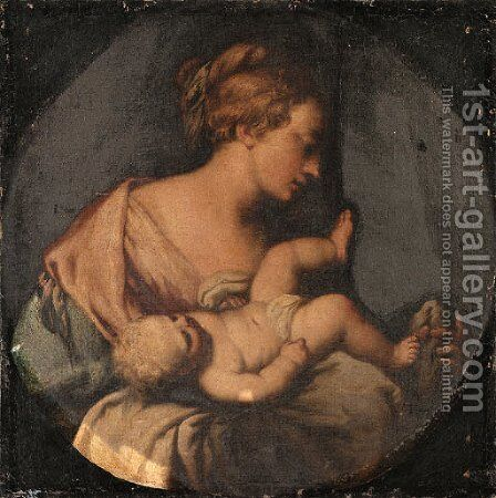 The Madonna and Child by (after) Girolamo Brusaferro - Reproduction Oil Painting
