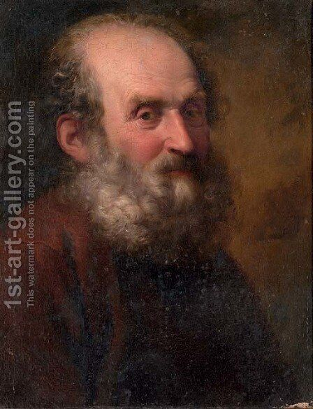 A bearded man by (after) Giuseppe Nogari - Reproduction Oil Painting