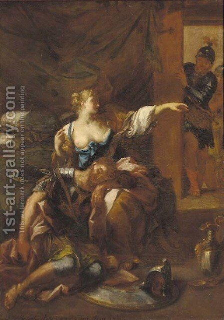 Samson and Delilah by (after) Giuseppe Passeri - Reproduction Oil Painting