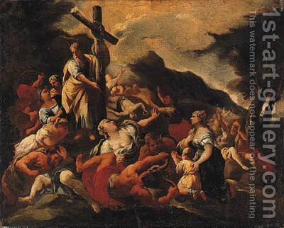 Moses and the Brazen Serpent by (after) Giuseppe Simonelli - Reproduction Oil Painting
