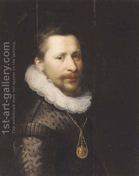 Portrait of a gentleman by (after) Gortzius Geldorp - Reproduction Oil Painting