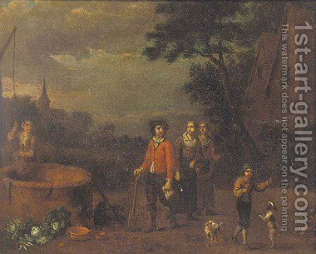 Figures by a well by (after) Guiliam Van Aelst - Reproduction Oil Painting
