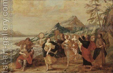 The Dance of Miriam by (after) Hans III Jordaens - Reproduction Oil Painting
