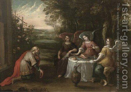 Abraham and the Three Angels by (after) Hendrik Van Balen, I - Reproduction Oil Painting