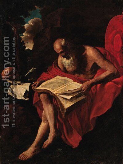 Saint Jerome by (after) Hendrick Van Somer - Reproduction Oil Painting