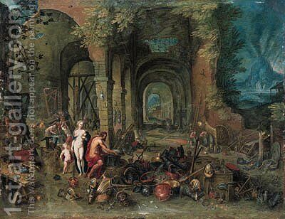 Venus at the forge of Vulcan by (after) Hendrik Van Balen, I - Reproduction Oil Painting