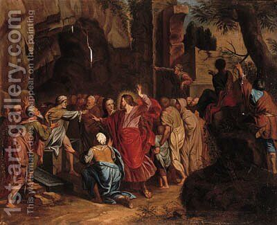 The Raising of Lazaru by (after) Henri Cantelbeeck - Reproduction Oil Painting