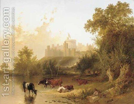 Windsor Castle from the Thames by (after) Henry John Boddington - Reproduction Oil Painting