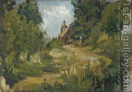 A cottage in the woods by (after) Ilya Efimovich Efimovich Repin - Reproduction Oil Painting