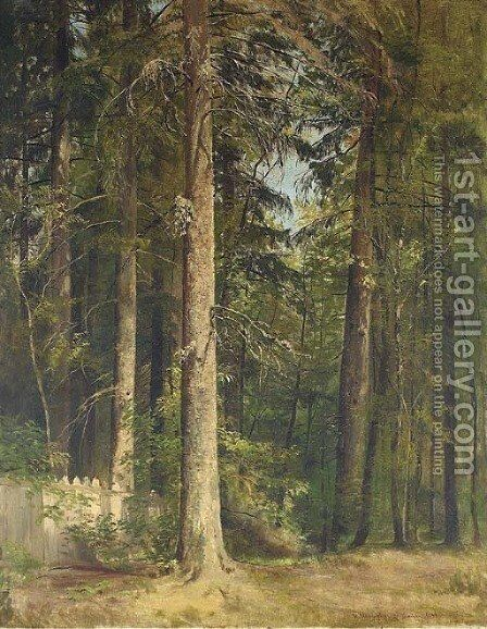 At the edge of the forest by (after) Ivan Shishkin - Reproduction Oil Painting