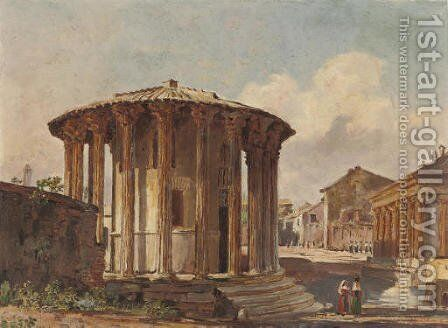 Temple of Vesta, Rome by (after) Jacob George Strutt - Reproduction Oil Painting