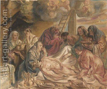 The Deposition by (after) Jacob Jordaens - Reproduction Oil Painting