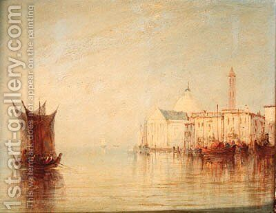 San Giorgio Maggiore from the lagoon, Venice by (after) James Baker Pyne - Reproduction Oil Painting