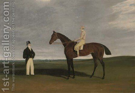 Birmingham with Patrick Conolly up, and his owner John Beardsworth by (after) James Loder Of Bath - Reproduction Oil Painting