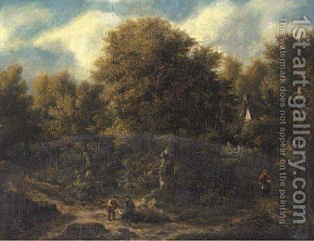 The edge of the wood by (after) James Stark - Reproduction Oil Painting