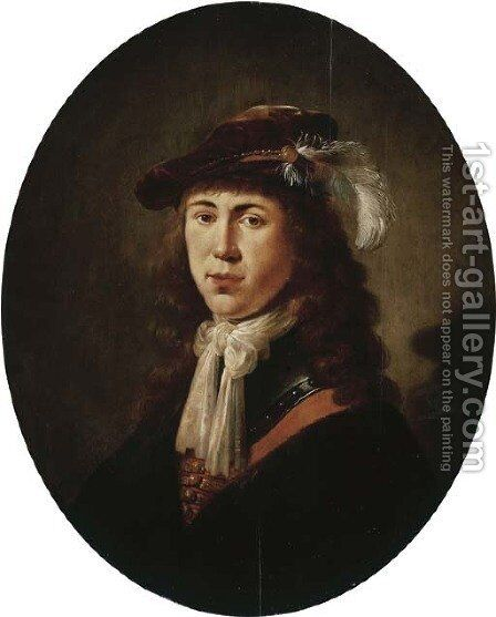 Portrait of a young man by (after) Jan Olis - Reproduction Oil Painting
