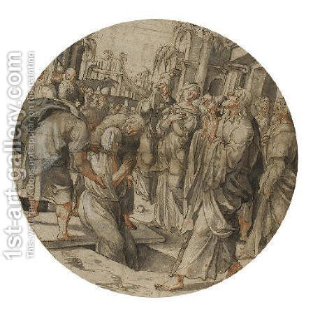 The Raising of Lazarus by (after) Jan Swart Van Groningen - Reproduction Oil Painting