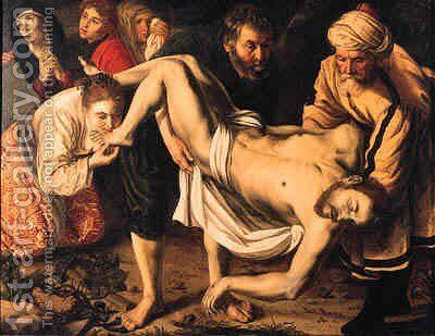 The Entombment by (after) Jan Woutersz. Stap - Reproduction Oil Painting